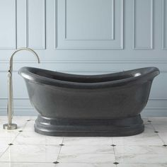 "72""+Hadrian+Stone+Double-Slipper+Tub"