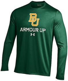 Baylor Bears Green Poly Dry Armour Up HeatGear NuTech Long Sleeve Shirt $39.95