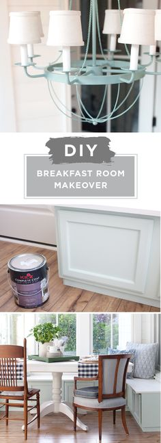 This DIY breakfast room makeover from Layla, of The Lettered Cottage, has got us feeling inspired. Layla started by priming her chandelier with KILZ Original Aerosol Primer before painting it Winchester Green. Then, she used KILZ Complete Coat Paint & Primer In One in a creamy mint to give her wooden banquette seating a fresh coat of paint. Check out this blog post to see Layla's full, easy tutorial.