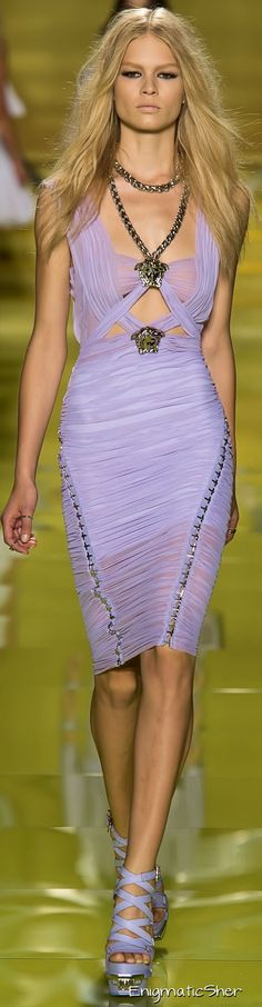 Versace Spring Summer 2014 Ready-To-Wear #fashion