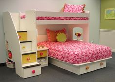 Utica Loft Twin Over Full Bunk Bed With Stairs And Storage