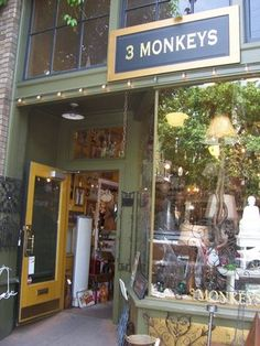 3 Monkeys: Awesome shop off of NW 23rd downtown Portland