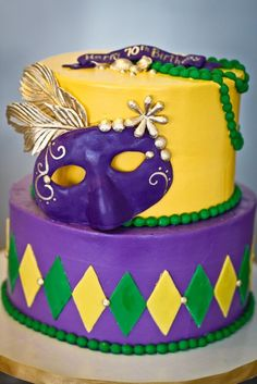 Mardi Gras Cake.... HELL YEAH!!  this would be badass in about 8 months!! :D