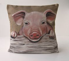 Cushion cover trending  pattern  pig decorative by FrenchBazar, $30.95