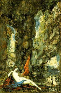 A Esfinge Vencedora (Winning the Sphinx) by Gustave Moreau Gustav Klimt, Henri Matisse, Le Sphinx, Art Visionnaire, Greek And Roman Mythology, Academic Art, Yellow Art, Pre Raphaelite, Art Database