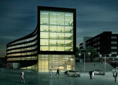 Office and shop complex proposal by JAJA (Sandnes, Norway)