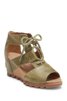 58aa5abf4239 Joanie Lace-Up Wedge Sandal by Sorel on @nordstrom_rack Lace Up Wedge  Sandals,. Nordstrom Rack