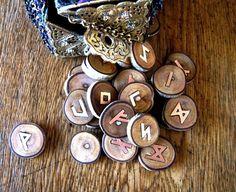 Other – Wood and copper Elder Futhark runes – a unique product by Diane-Starling via en.DaWanda.com