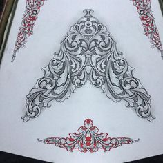 Instagram post by KenHunt • Dec 27, 2018 at 8:56pm UTC Filigree Tattoo, Ornament Drawing, Leather Carving, Metal Engraving, Mandala Drawing, Ornaments Design, Stencil Designs, Stone Carving, Surreal Art