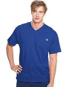 b0237a91 Champion Authentic Men's Jersey V-Neck T Shirt - HanesBrands Outlet on eBay  - Free