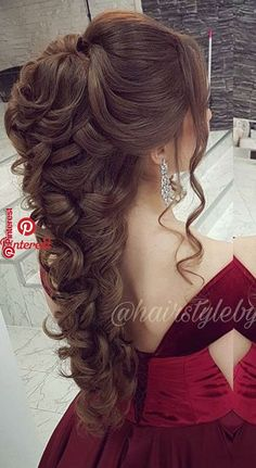 40 gabriela super cute hairstyles 030 40 gabriela super cute hairstyles 030 Related Post Beautiful Bridal Wedding Updos Hairstyles – . Cute simple upddos for long hair how to do it in Peinados 2017 trending half up half down wedding hairstyles. Quince Hairstyles, Easy Formal Hairstyles, Super Cute Hairstyles, Wedding Hairstyles For Long Hair, Wedding Hair And Makeup, Bride Hairstyles, Bridal Hair, Hairstyle Men, Funky Hairstyles