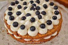 Tort de morcovi cu crema de mascarpone si fructe - OurDailyFood Food Cakes, Cake Recipes, Desserts, Mascarpone, Cakes, Tailgate Desserts, Deserts, Easy Cake Recipes, Kuchen
