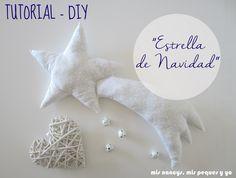 mis nancys, mis peques y yo, tutorial DIY cojín con forma de estrella de Navidad