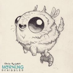 Foraging for wild croissants. #morningscribbles