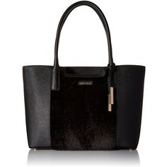 Calvin Klein Key Items Saffiano Fur Tote ( 95) ❤ liked on Polyvore featuring a800616da2e60