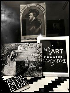 """Marta Julia Piórko, """"Płaczący wilk"""", oil on canvas"""