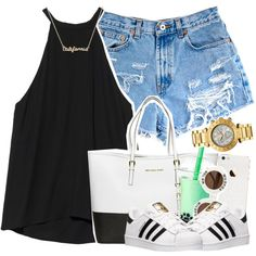 ♡_♡ by kgxld on Polyvore featuring polyvore, fashion, style, A.L.C., adidas, MICHAEL Michael Kors and Wildfox