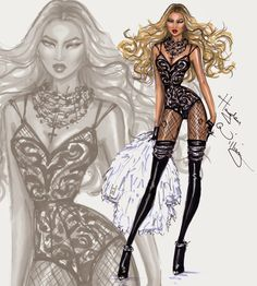 Hayden Williams Fashion Illustrations: BEYONCÉ is BACK!!! by Hayden Williams