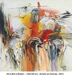All is But a Dream - 2013 - Acrylic on Canvas - 120 x 120 cm