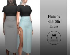 Elaina's Side Slit Dress at Simply King • Sims 4 Updates