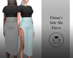 Elaina's Side Slit Dress at Simply King • Sims 4 Updates