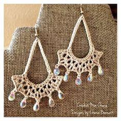 Free Crochet Pattern: Tanya's Teardrop Earrings   Pattern Paradise   Bloglovin'