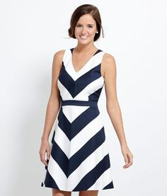 Awning Stripe Halter Dress-Vineyard Vines