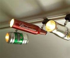 The Beer Can Track Light by ZAL Creations Brings a Boozy Spin to Decor #drinking #alcohol