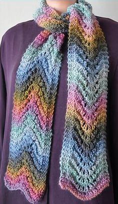 What a beautiful application of a self-striping yarn. This is gorgeous!