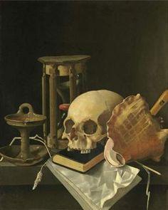 Adriaen_Coorte__Vanitas_Still_Life_with_skull_