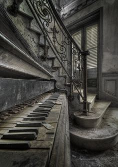 she's after my piano - abandoned in an old forgotten villa somewhere in Europe