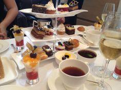 Afternoon tea spread at the Halkin