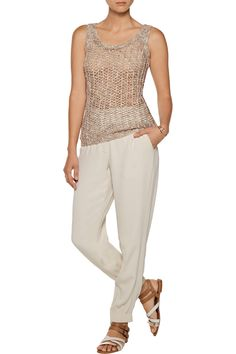 Shop on-sale ENZA COSTA Open-knit tank. Browse other discount designer Knitwear & more on The Most Fashionable Fashion Outlet, THE OUTNET.COM