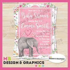MB Design and graphics: Printable baby shower Invitation