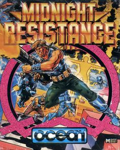 Midnight Resistance Commodore 64 Front Cover
