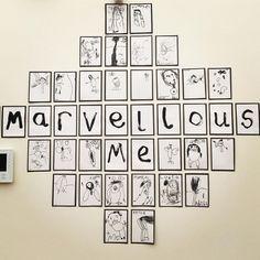 "Based off the book ""Marvelous Me""? Reggio Emilia Classroom, Reggio Inspired Classrooms, Reggio Classroom, Classroom Organisation, New Classroom, Classroom Displays, Preschool Classroom, Preschool Art, Primary School Displays"