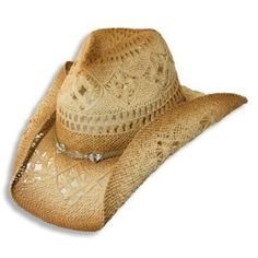 Western Cowgirl Hat with clear Beads by Dorfman Pacific, Neutral,One Size - http://todays-shopping.xyz/2016/05/27/western-cowgirl-hat-with-clear-beads-by-dorfman-pacific-neutralone-size-2/