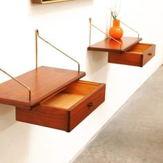 Floating drawers: adorable, use in the dining room to make a bar space above the hutch?