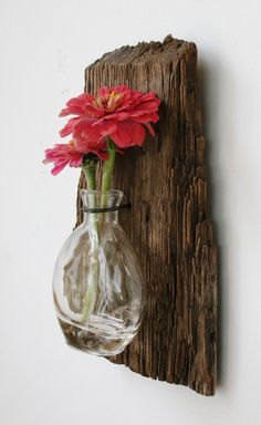 Driftwood Reclaimed Wood Vase Rustic Home by PeaceLoveDriftwood