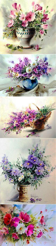 Прекрасные акварели Mohammad Yazdchi