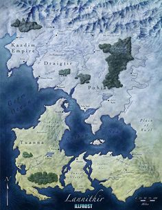 World of Lannithir for Illfrost Campaign Setting by Jonathan Roberts at FantasticMaps.com [MZLoweRPP verified link on 6/30/2016]