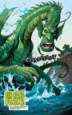 Fin Fang Foom in The Totally Awesome Hulk #3 - Frank Cho