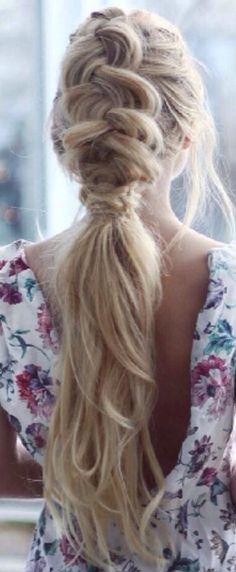 Messy ponytail with braid #gorgeoushair