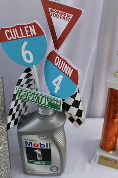 Boys' Cool Race Car Birthday Party Decor Ideas