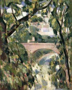 John Duncan Fergusson 1874-1961  Kirklee Bridge, Glasgow