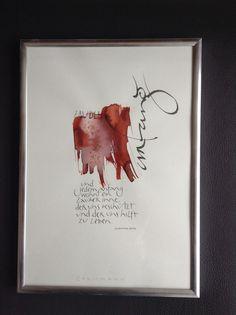 Kalligraphiebild mit Zitat von Hermann Hesse