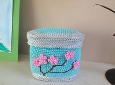 Image result for crochet boxes free pattern