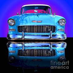'1955 Chevy Bel Air' Fine Art photography by Jim Carrell. This is a beauty, very well done, awesome photography.