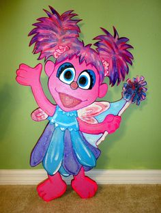 Abby Cadabby Sesame Street  3 ft Wood Standees    Birthday Decorations  adorabledecorations.com