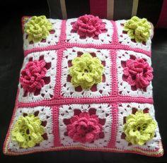 Beautiful crochet cushion
